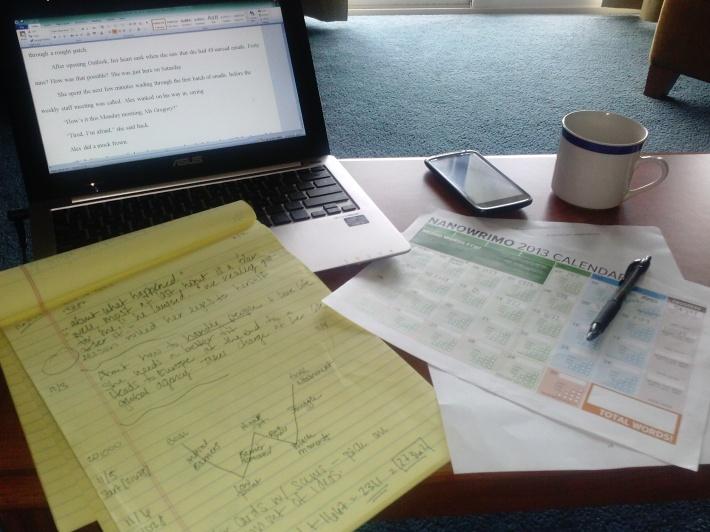 Hard at work during week two.