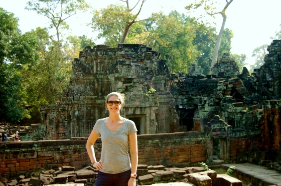 Carrie in Cambodia