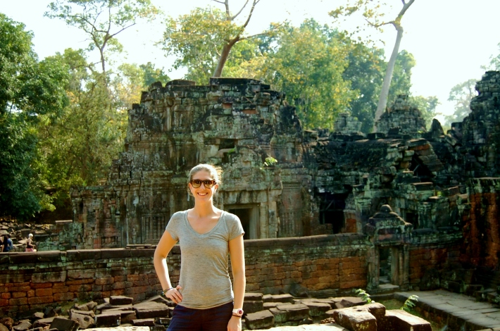 Carrie in Cambodia